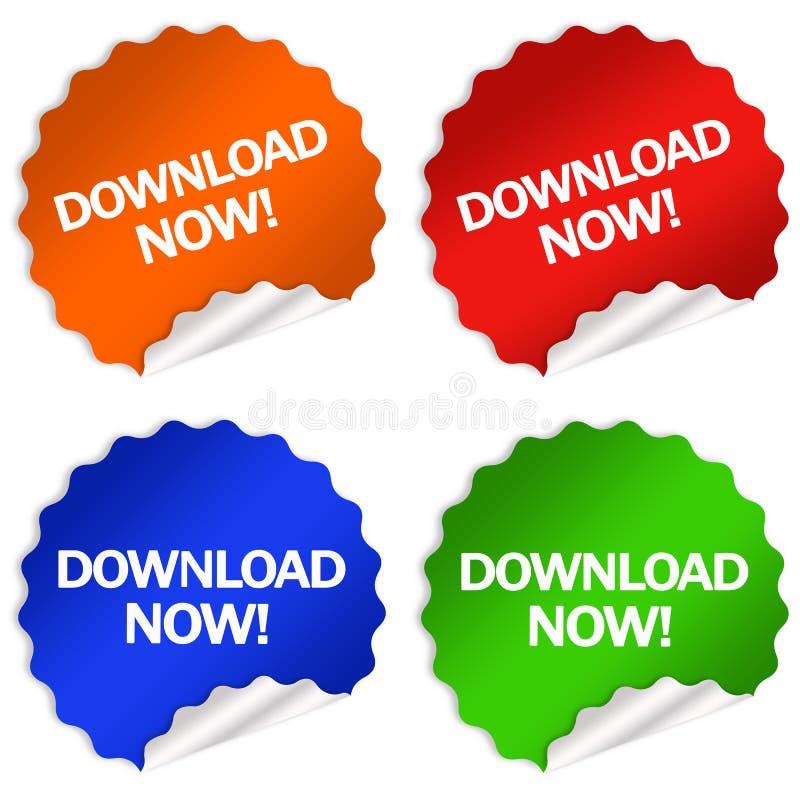 download теперь иллюстрация штока