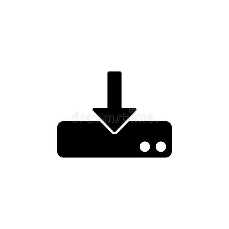Download aan opslagpictogram De tekens en de symbolen kunnen voor Web, embleem, mobiele toepassing, UI, UX worden gebruikt stock illustratie
