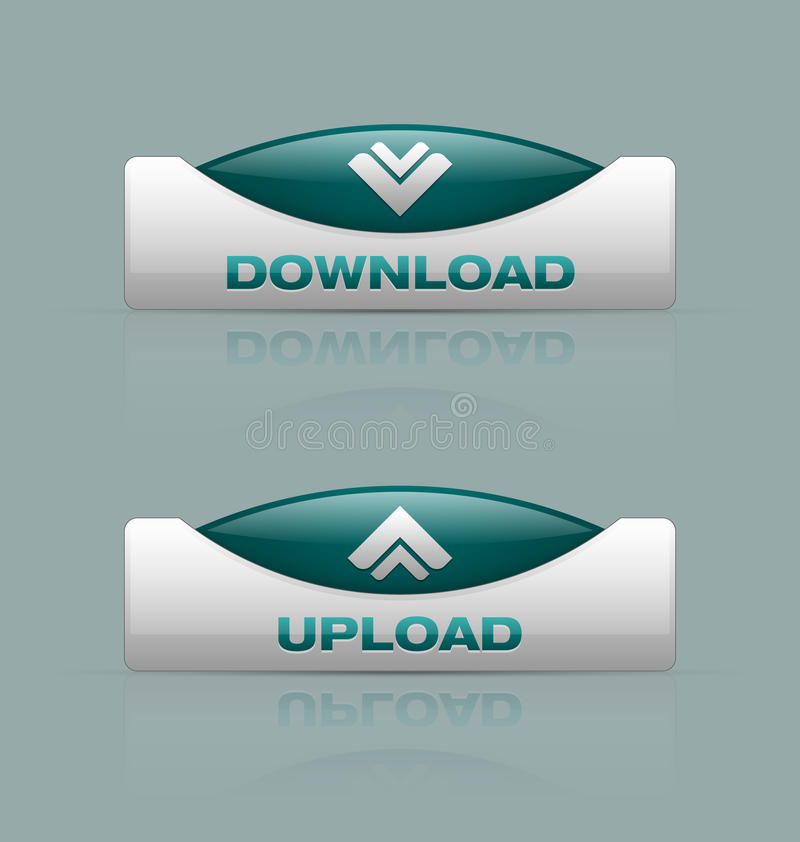 Free Download And Upload Buttons Royalty Free Stock Photos - 29966708