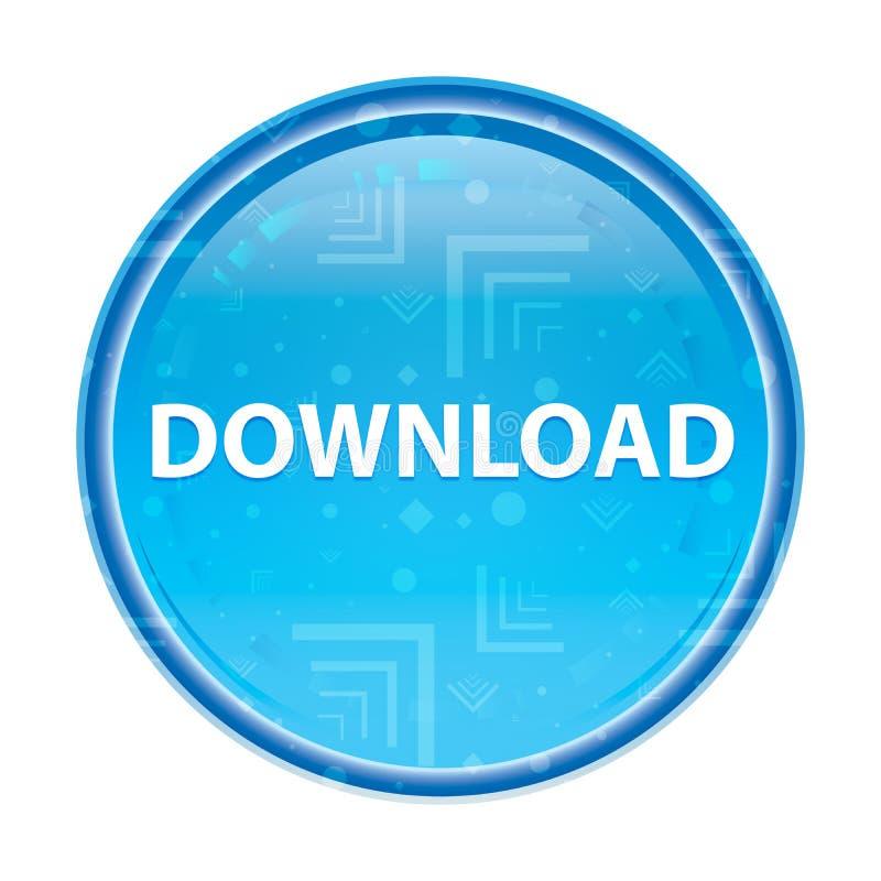 Download bloemen blauwe ronde knoop stock illustratie