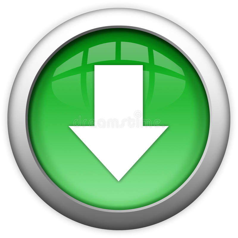 Download button. Isoalted over white vector illustration