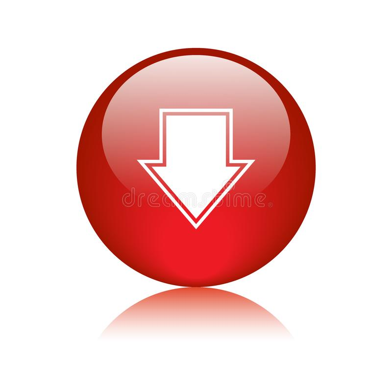 Download button red vector illustration
