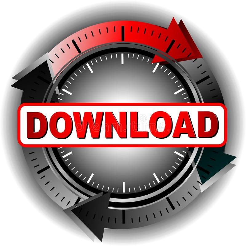 Download Button Royalty Free Stock Photography