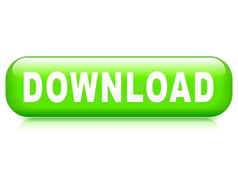 Download button on white background vector illustration