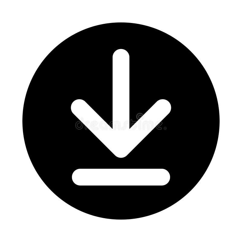 Download Button White On Black stock illustration