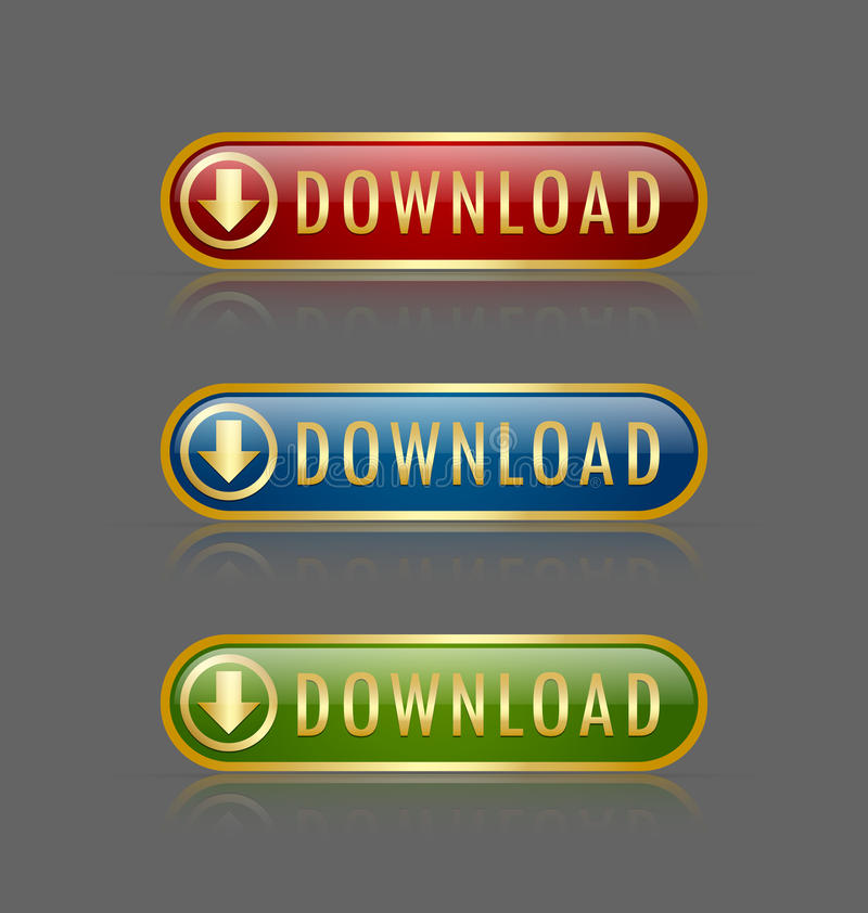 Download Download buttons stock vector. Image of cloud, design - 23995731