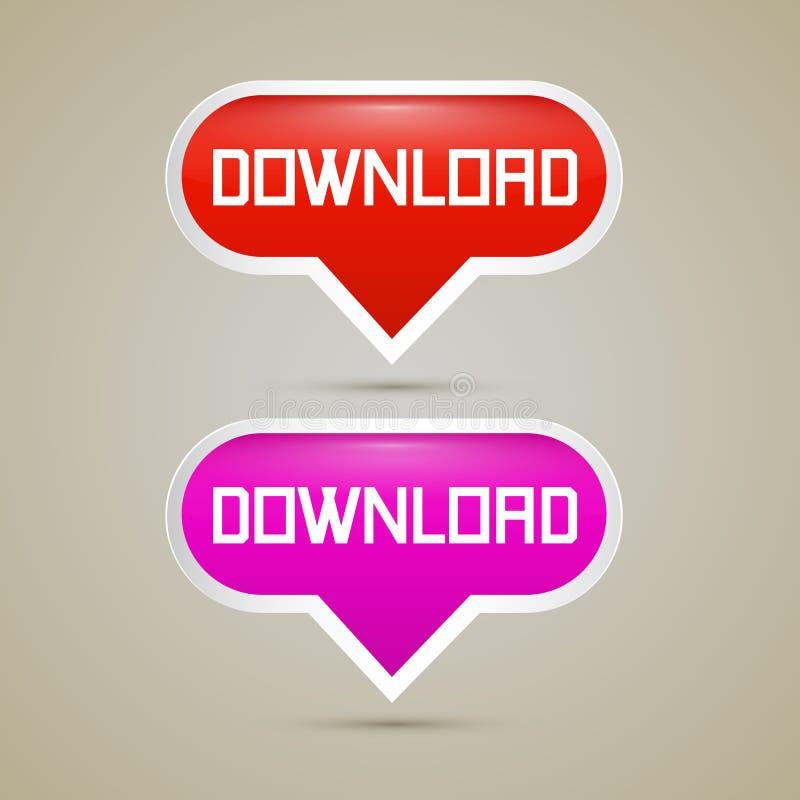 Download Buttons - Vector Illustration vector illustration