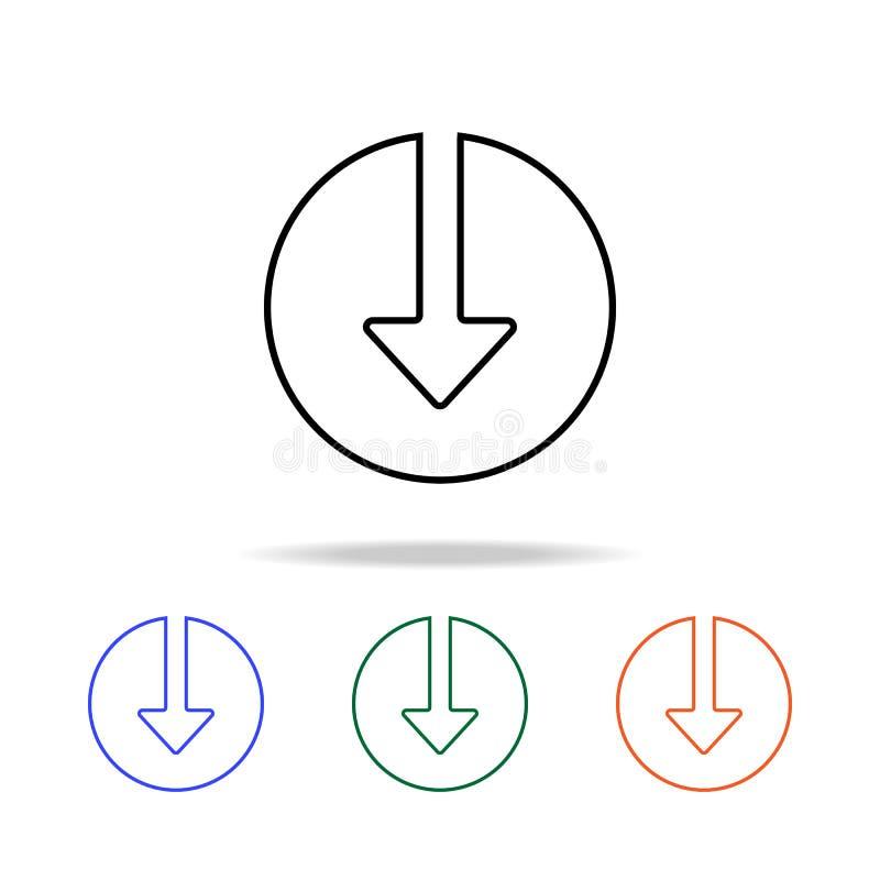 Download in Cirkelpictogram Elementen van eenvoudig Webpictogram in multikleur Grafisch het ontwerppictogram van de premiekwalite stock illustratie