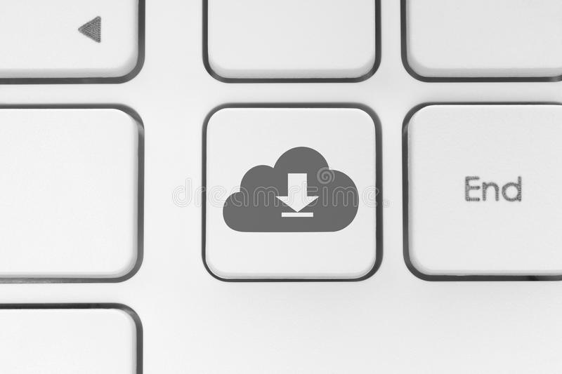 Download from cloud keyboard button royalty free stock images