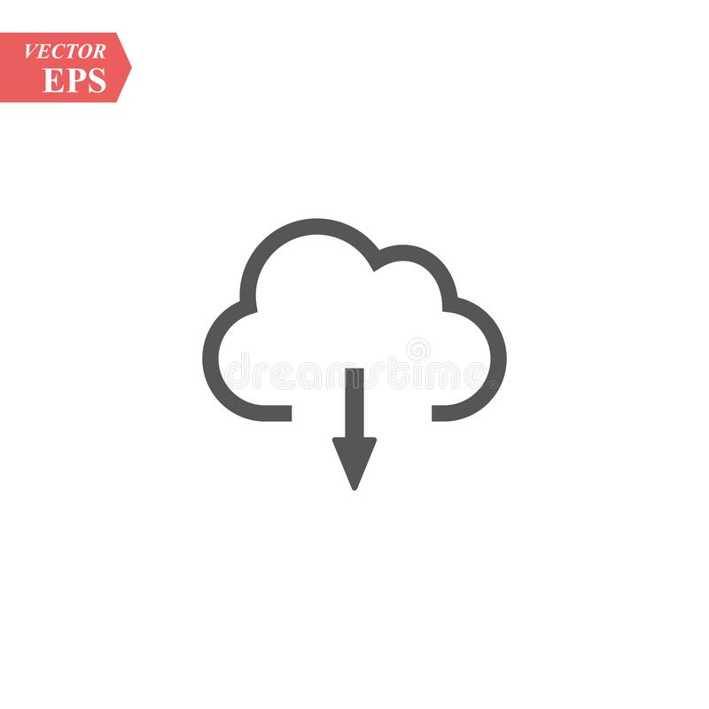 Download from cloud vector icon. Modern, simple flat vector illustration for web site or mobile app. Eps 10 royalty free illustration