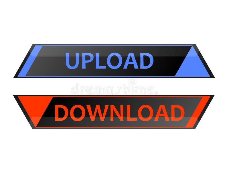 Download da transferência de arquivo pela rede ilustração stock