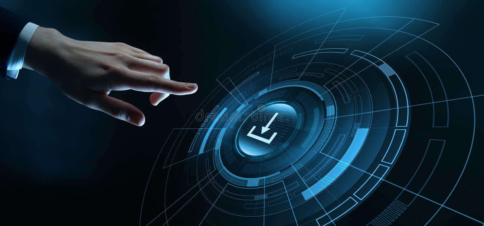 Download Data Storage Business Technology Network Internet Concept.  stock images