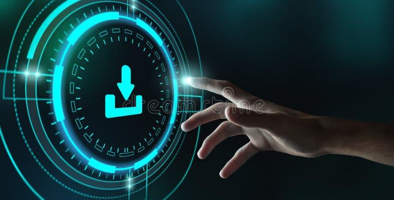 Download-Datenspeicherungs-Storage Technology Netz-Konzept, Ernte lizenzfreie stockfotos