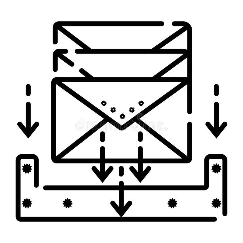 Download in de illustratievector van het doospictogram stock illustratie