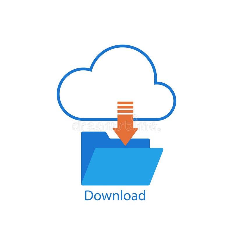 Download De wolkendienst vlakke ontwerpelementen stock illustratie