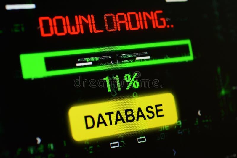 Download del database illustrazione di stock