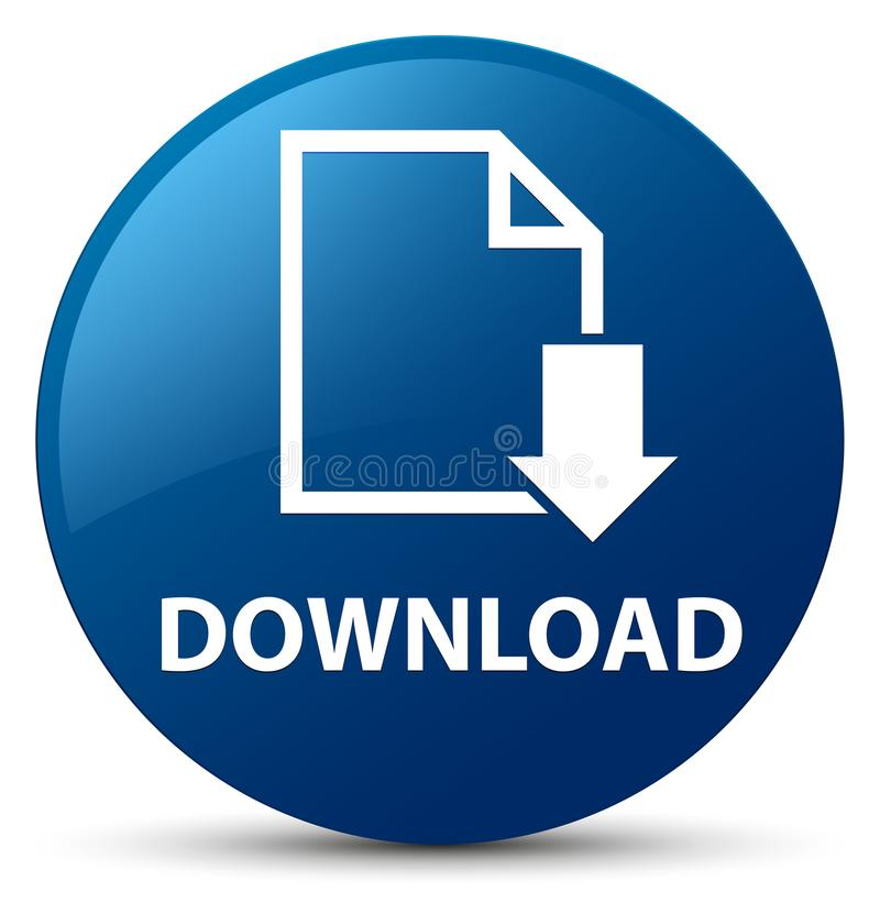 Download (documentpictogram) blauwe ronde knoop royalty-vrije illustratie
