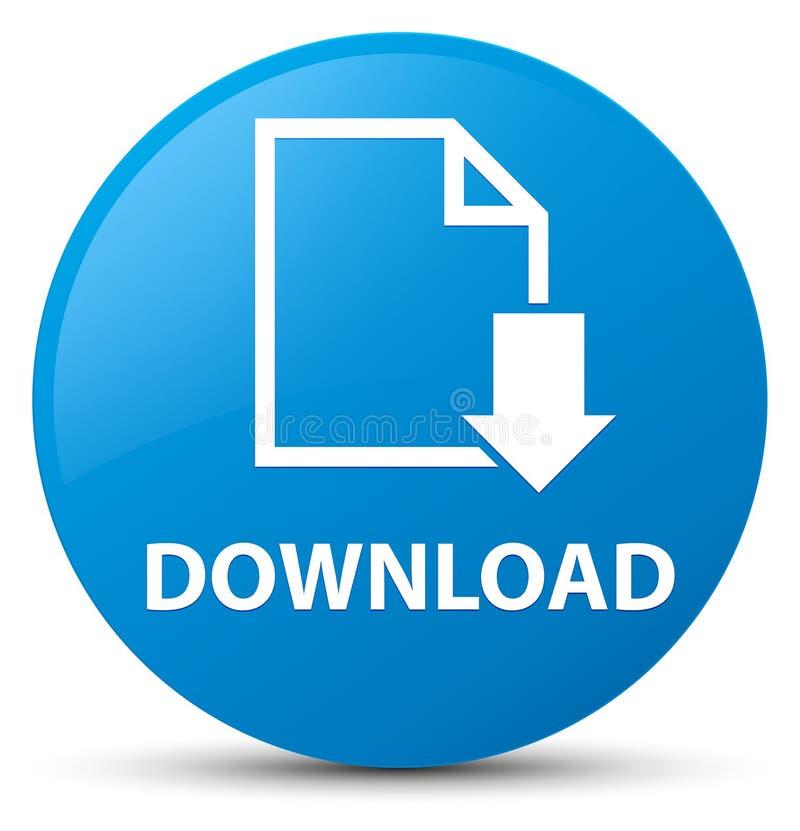 Download (documentpictogram) cyaan blauwe ronde knoop vector illustratie