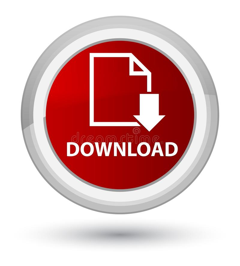 Download (documentpictogram) eerste rode ronde knoop stock illustratie
