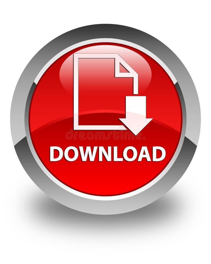 Download (documentpictogram) glanzende rode ronde knoop vector illustratie