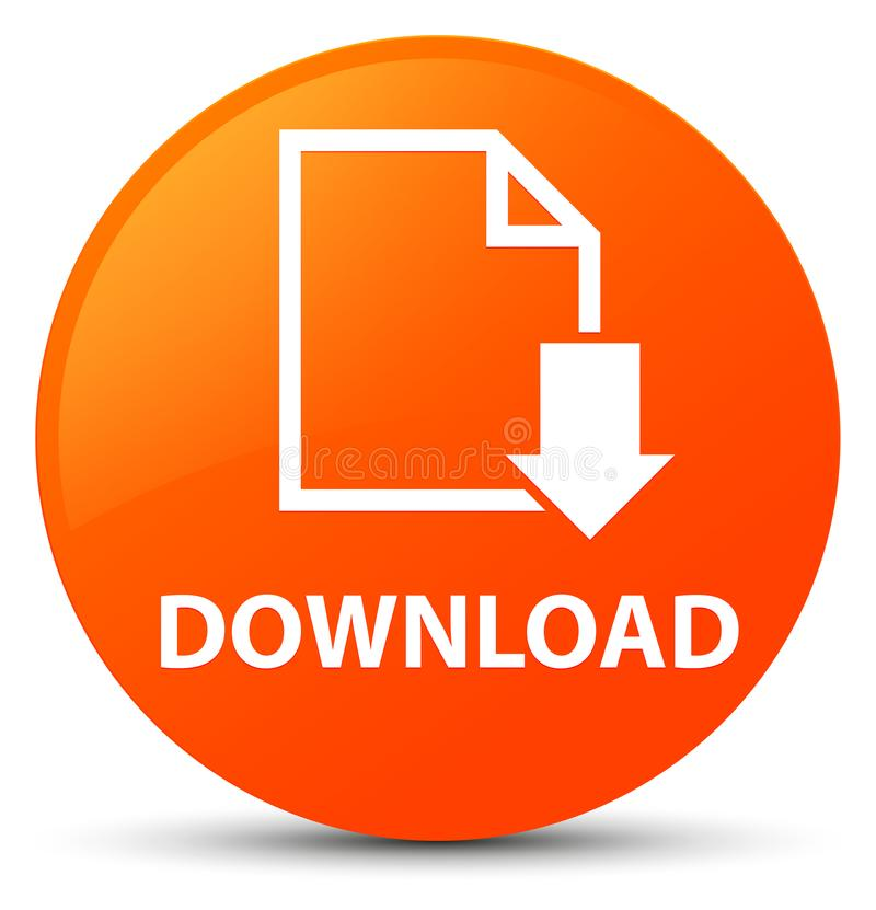 Download (documentpictogram) oranje ronde knoop royalty-vrije illustratie