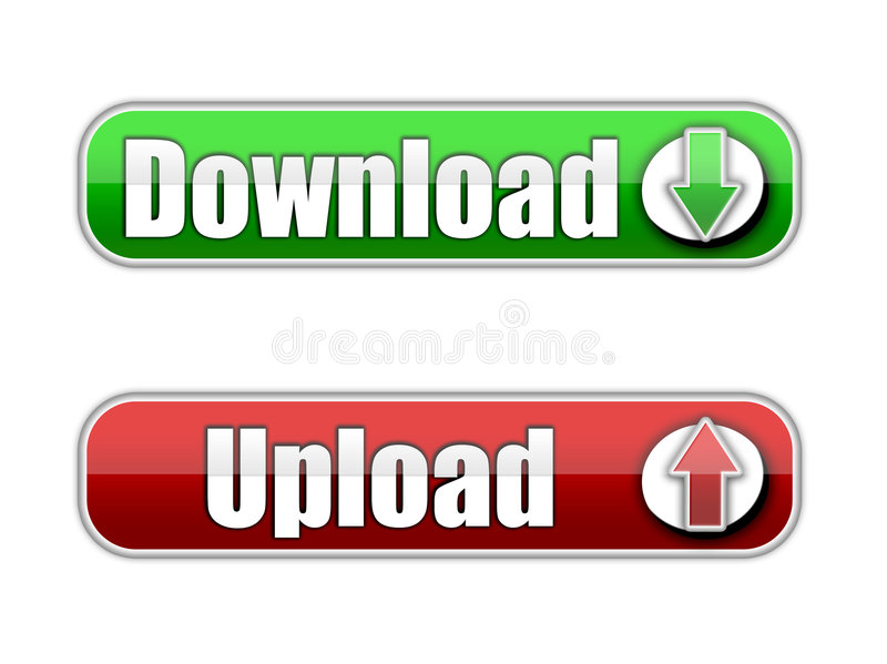 Download e transferência de arquivo pela rede ilustração do vetor