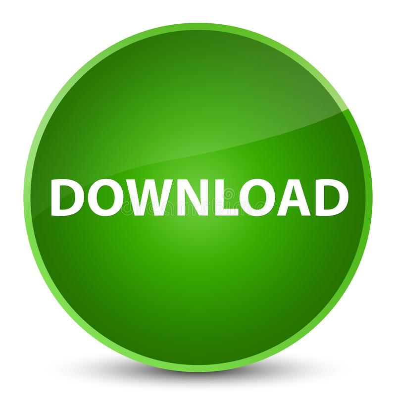 Download elegante groene ronde knoop royalty-vrije illustratie