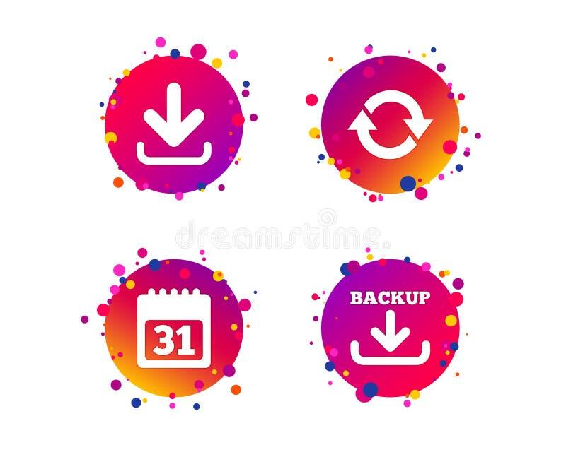 Download en Reservetekens Kalender, omwenteling Vector royalty-vrije illustratie