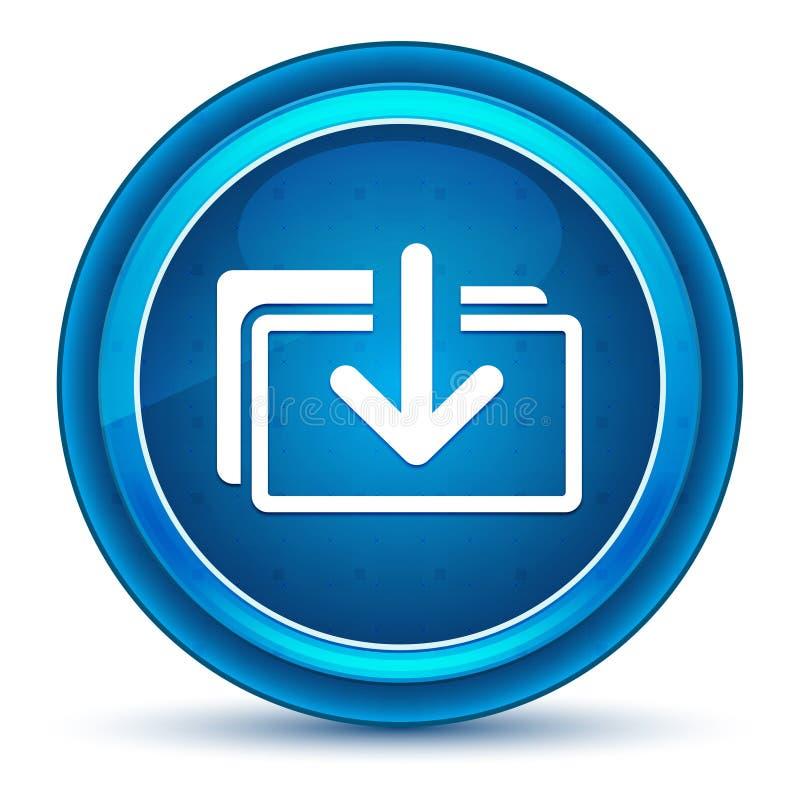 Download files icon eyeball blue round button stock illustration