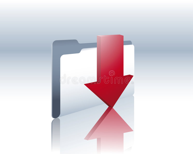 Download Download folder stock vector. Image of business, documents - 8443735