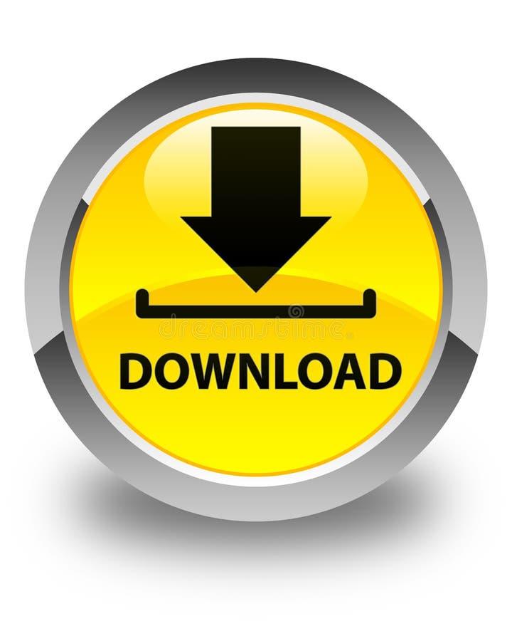 Download glanzende gele ronde knoop royalty-vrije illustratie