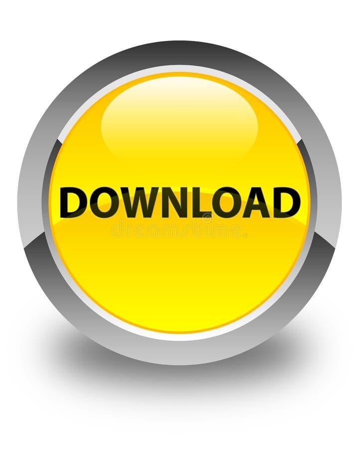 Download glanzende gele ronde knoop stock illustratie
