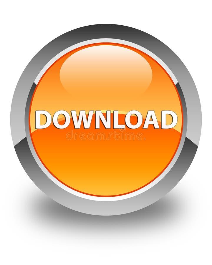 Download glanzende oranje ronde knoop vector illustratie