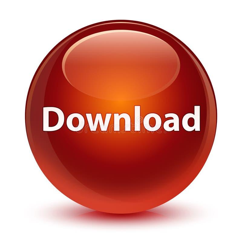 Download glazige bruine ronde knoop stock illustratie