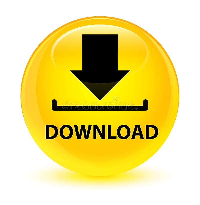 Download glazige gele ronde knoop royalty-vrije illustratie