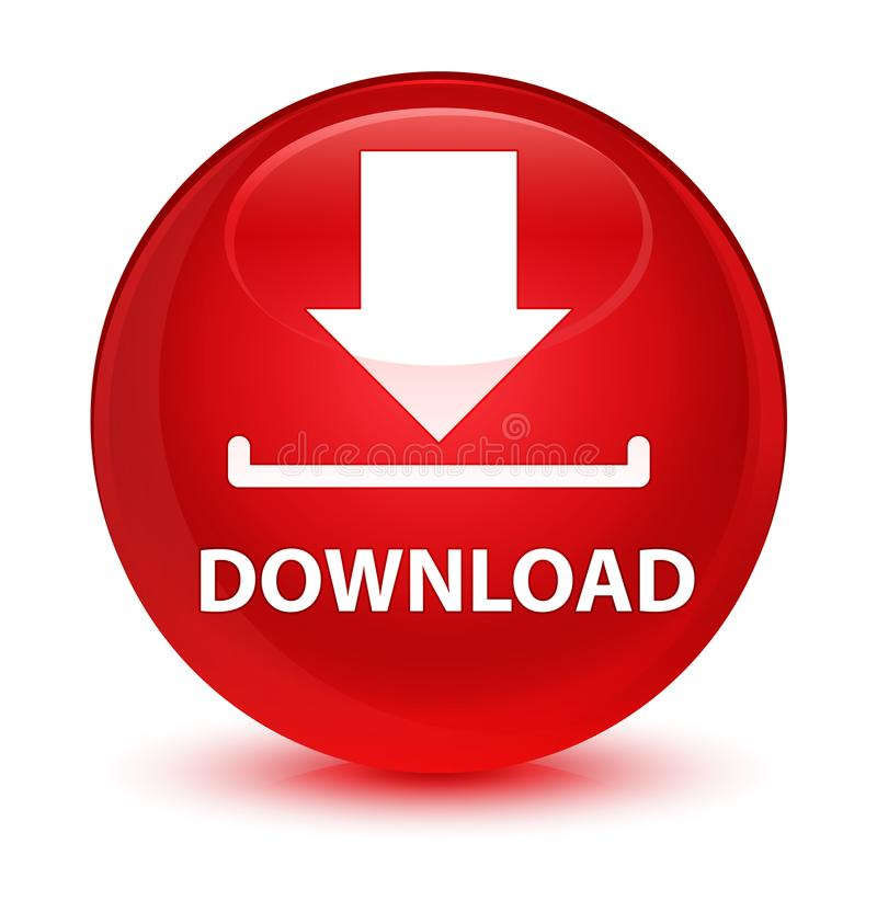 Download glazige rode ronde knoop royalty-vrije illustratie