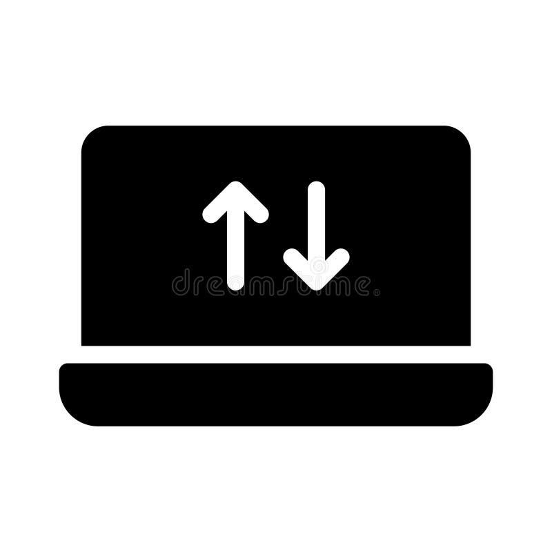 Download glyph vlak vectorpictogram vector illustratie