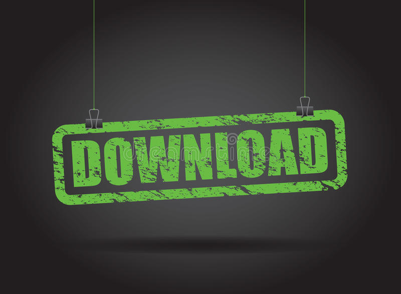 Download hangend teken vector illustratie