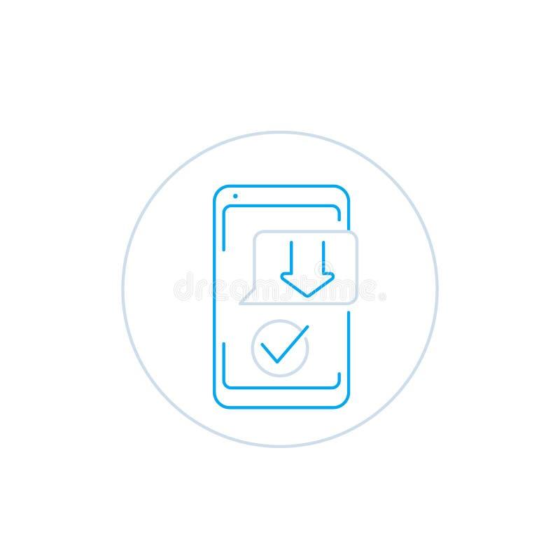 Download het pictogram van de app van de smartphone vectorlijn royalty-vrije illustratie