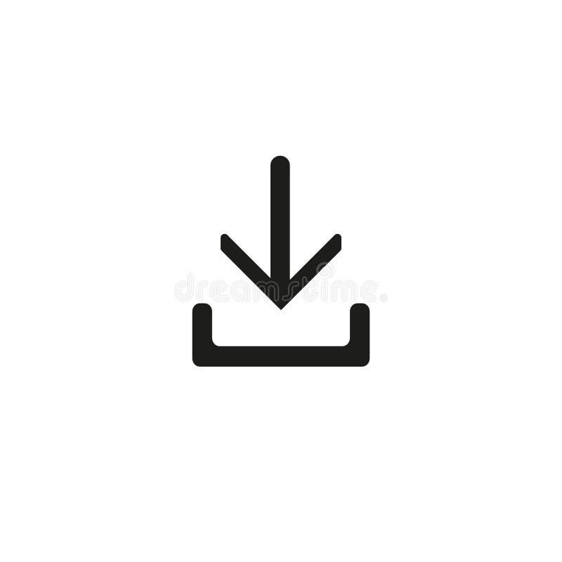 Download - het Vector van de het Pictogram Vectordownload van de pictogramdownload van de het pictogramdownload Vectorpictogram vector illustratie
