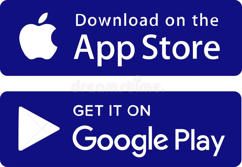 Icons app store google play royalty free illustration