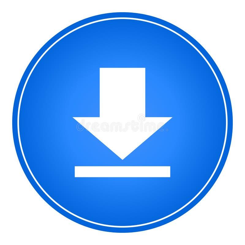 Download icon button web vector vector illustration