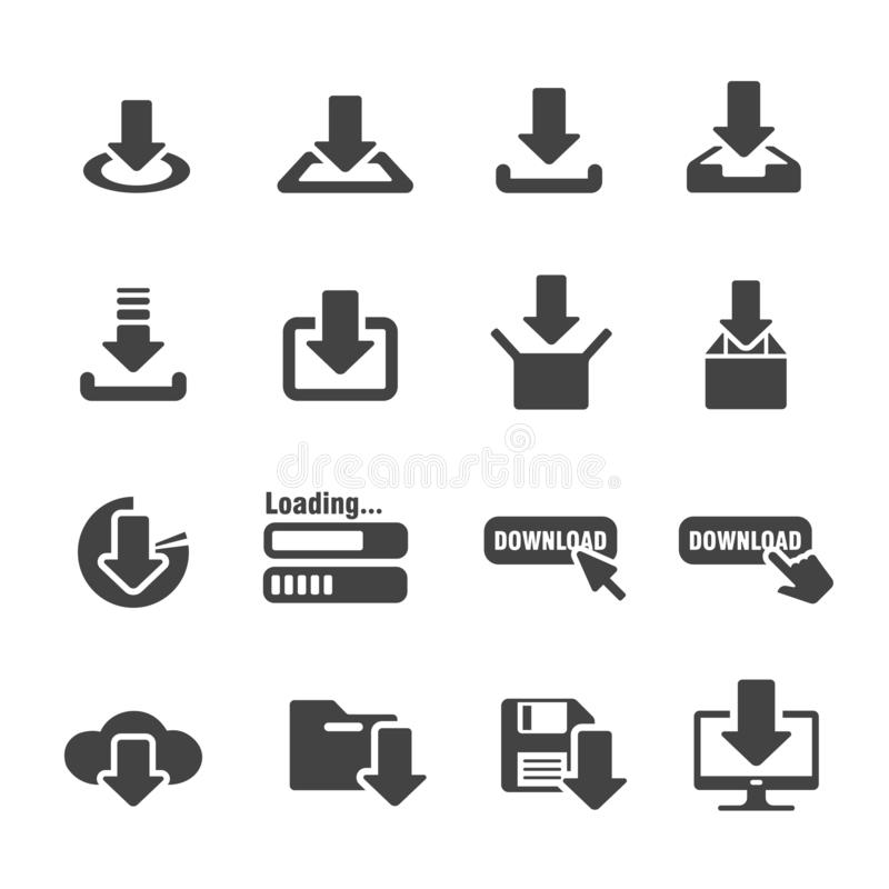 Free Download Icon Set Royalty Free Stock Images - 136589879