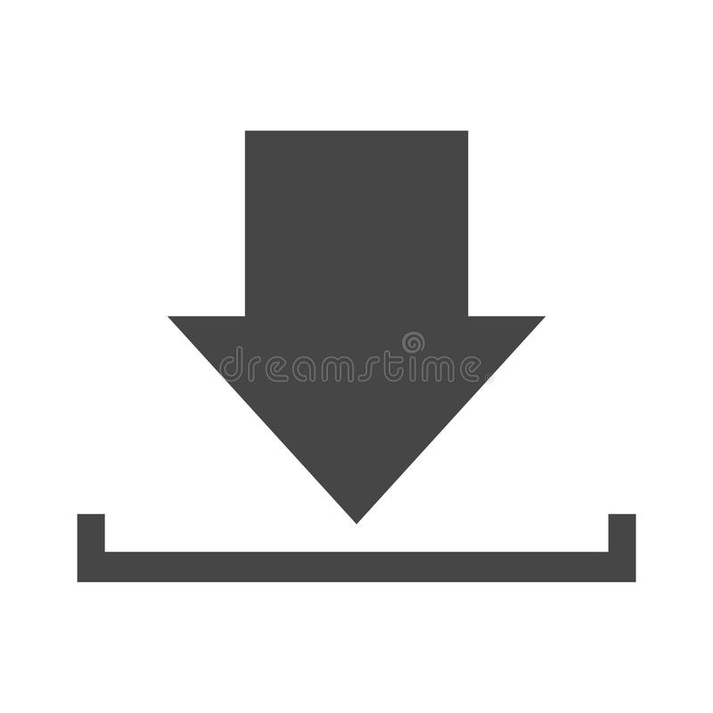 Download icon, Upload button, Load symbol. Icon vector illustration
