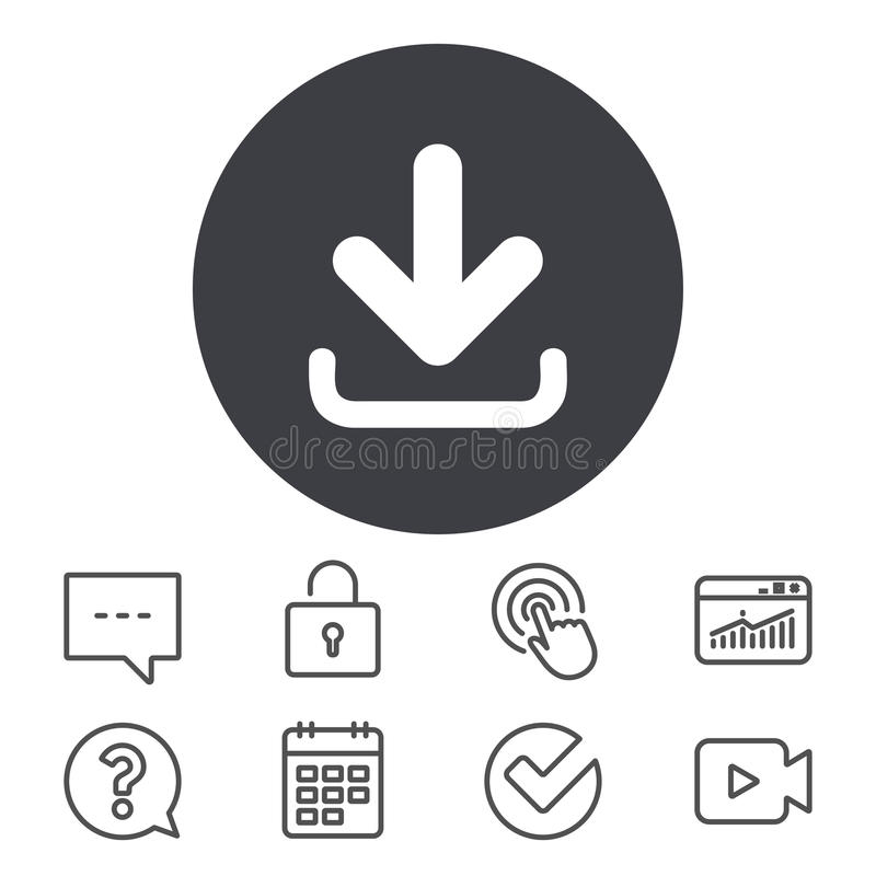 Download icon. Upload button. vector illustration