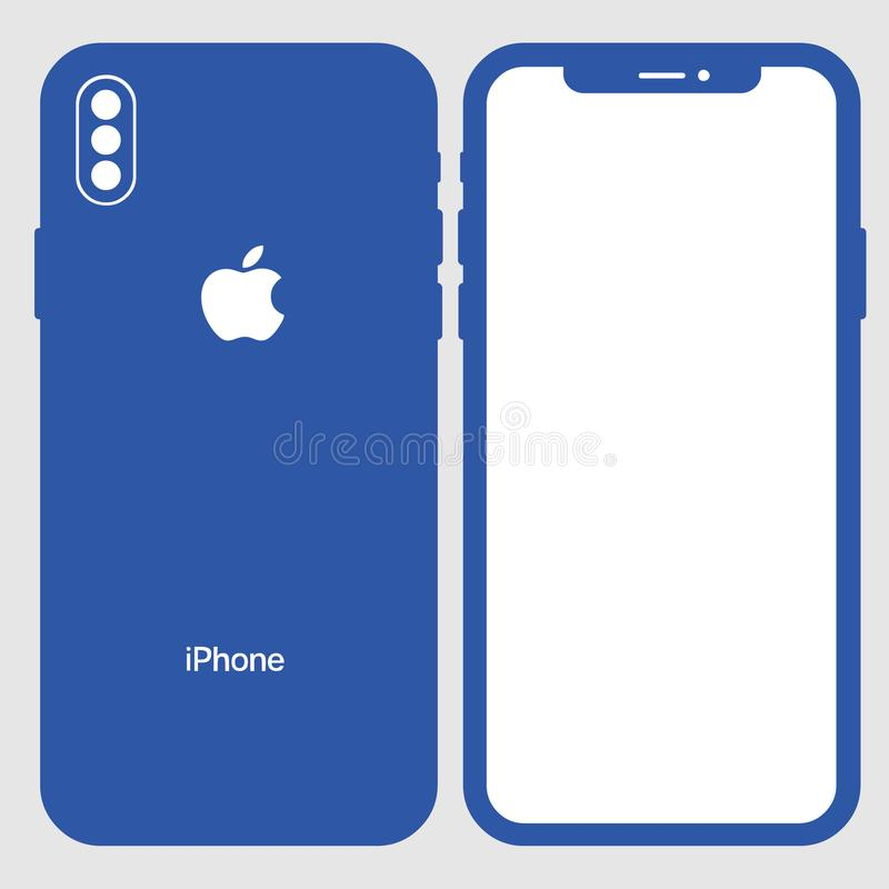 Download iphone 8 Vector royalty free illustration