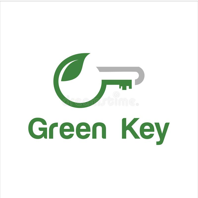 Download key vector logo modern graphic abstract technology royalty free illustration