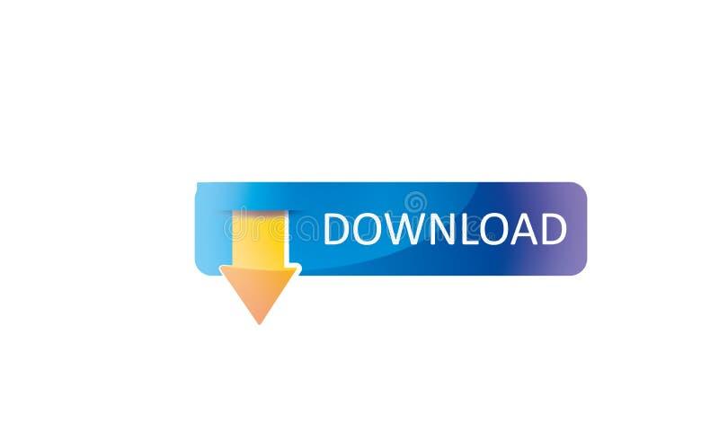 Download Logo Template - icona di web di download di web - Logotype fresco di simbolo di download di web nuovo illustrazione di stock