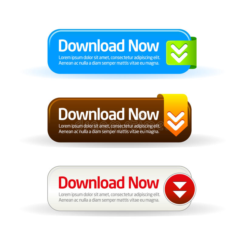 Download now modern button collection royalty free illustration
