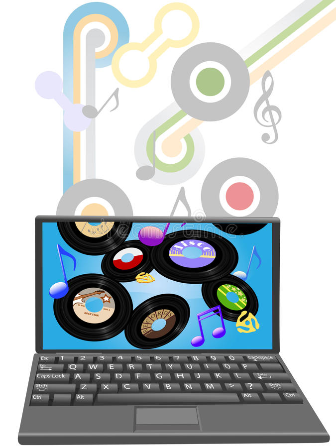 Free Download Oldies Music To Laptop Computer Royalty Free Stock Photo - 10618845